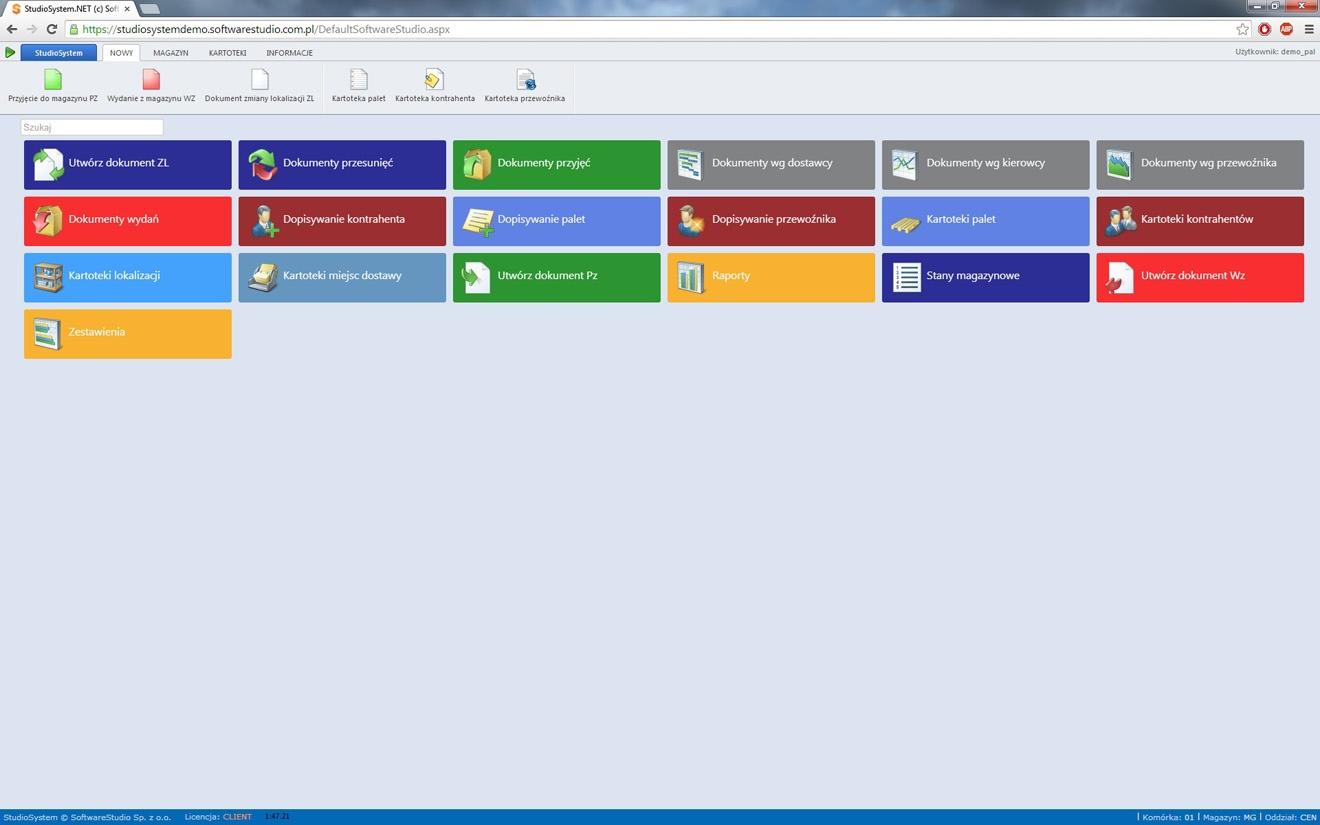 Chrome program palety