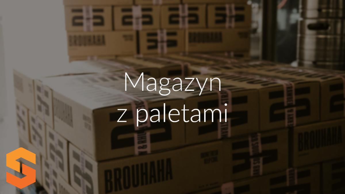 Magazyn z paletami